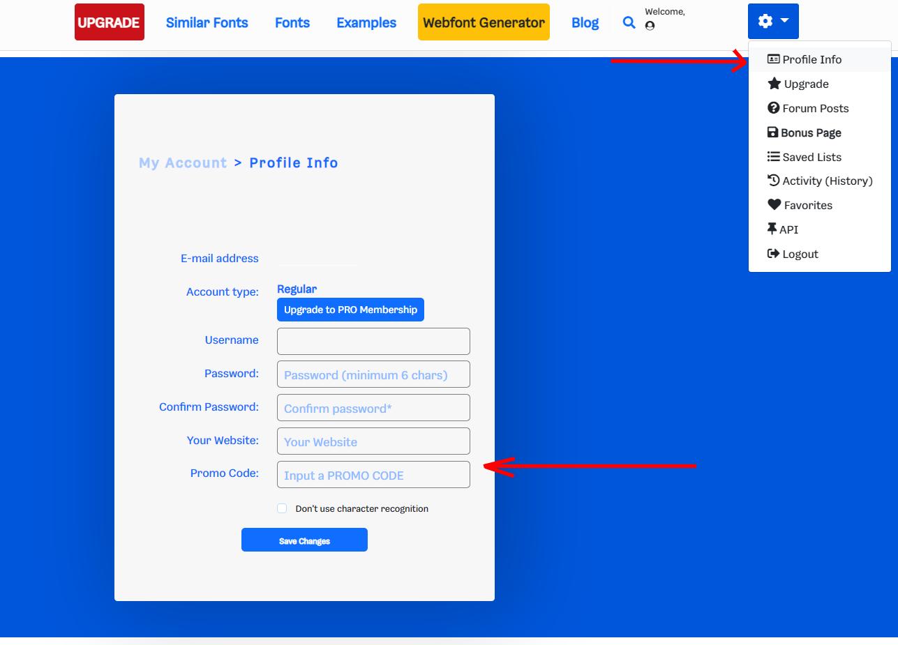 Promo Code Profile Info step 2