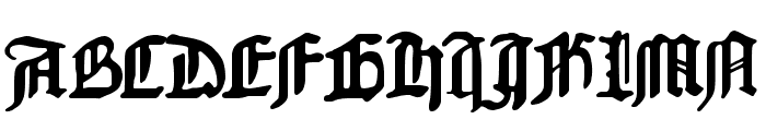 1454 Gutenberg Bibel Font UPPERCASE