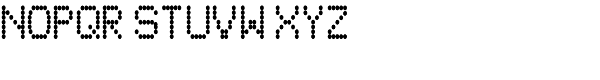 80s PXL Thin Font UPPERCASE
