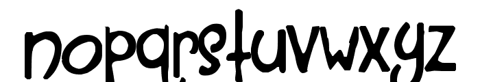 A Red Bucket Font LOWERCASE