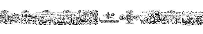 Aayat Quraan 5 Font LOWERCASE