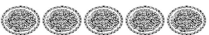 Aayat Quraan_037 Font OTHER CHARS