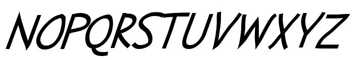 Abscissa Italic Font UPPERCASE