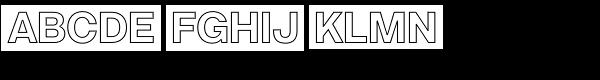 Acronym Outline Regular Font UPPERCASE