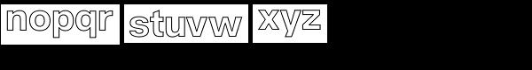 Acronym Outline Regular Font LOWERCASE