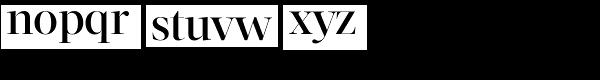 Acta Display Medium Font LOWERCASE
