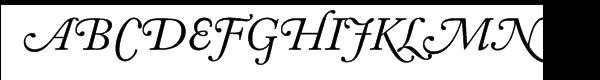 Adobe Caslon™ Italic Swash Font UPPERCASE