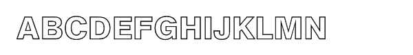 AG Book Pro BQ Bold Outline Font UPPERCASE