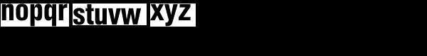 AG Book Std-Medium Cnd Font LOWERCASE
