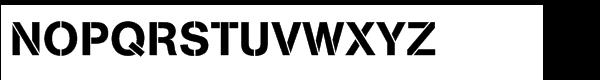 AG Book® Stencil Std Medium Font UPPERCASE