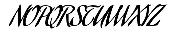 Aguafina Script Regular Font UPPERCASE