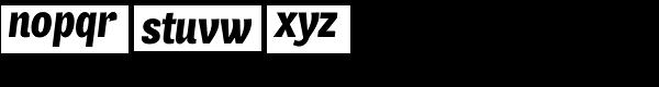 Air Condensed Black Italic Font LOWERCASE
