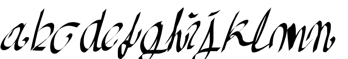AkaAcidQuickPad Font LOWERCASE