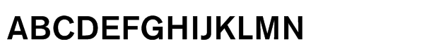 Akzidenz-Grotesk® Std Medium Font UPPERCASE