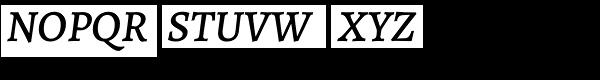 Alegreya ht Pro Medium Italic Font UPPERCASE