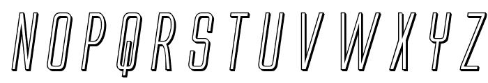 Alien League 3D Italic Font UPPERCASE
