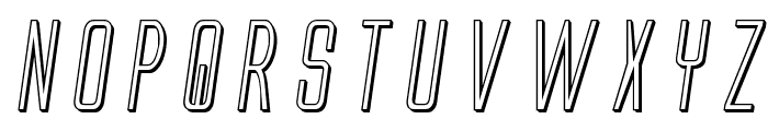 Alien League 3D Italic Font LOWERCASE