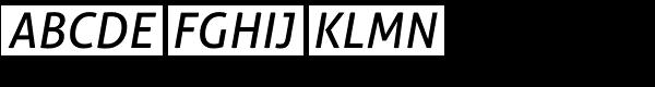 Aller Typo Italic Font UPPERCASE