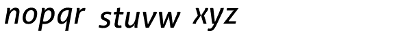 Aller Typo Italic Font LOWERCASE