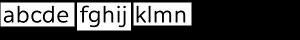 Alleyn Font LOWERCASE