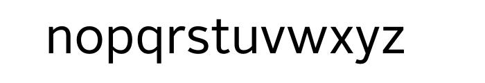 Alright Sans Regular OT Font LOWERCASE
