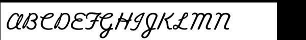 Alright Std Regular Font UPPERCASE