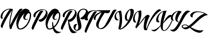Allita Script Font UPPERCASE