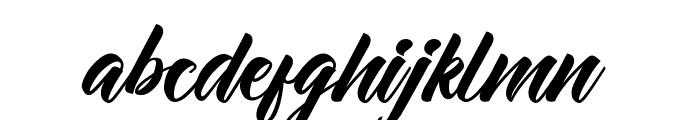 Allita Script Font LOWERCASE