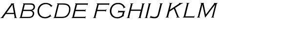 American Gothic URW Light Italic Font UPPERCASE