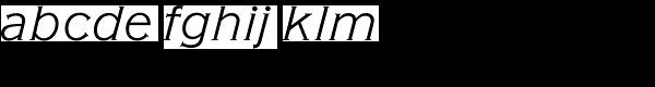 American Gothic URW Light Italic Font LOWERCASE