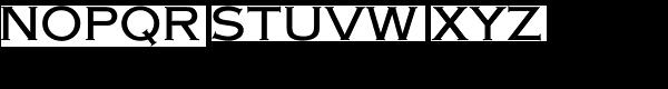 American Gothic URW Medium Font UPPERCASE