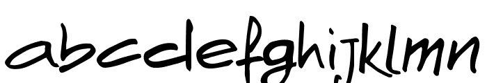 AndNowHand Font LOWERCASE