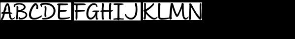 Andrea II Script Upright Medium Font UPPERCASE
