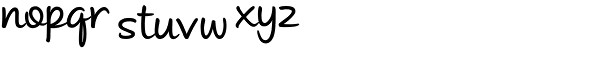 Andrea II Script Upright Medium Font LOWERCASE