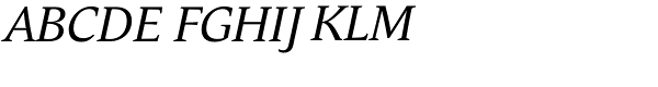 Andulka Book Italic Font UPPERCASE