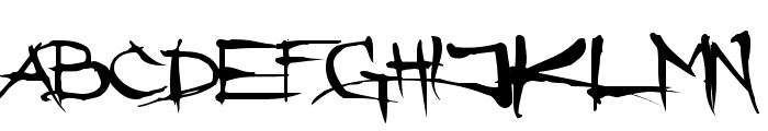 Angryblue Font LOWERCASE
