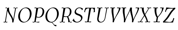 AntykwaTorunskaCondLight-Italic Font UPPERCASE