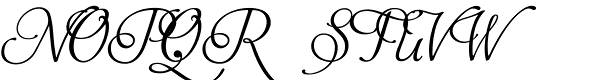 Aphrodite Stylistic Font UPPERCASE