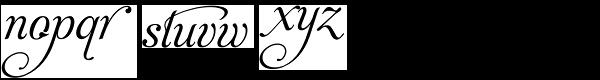 Aphrodite Stylistic Font LOWERCASE