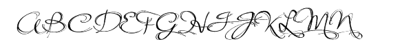 Arabesque Font UPPERCASE