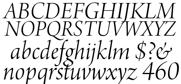 ArnoPro-LightItalicDisplay Font