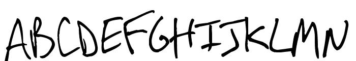 Arnot Hand Font UPPERCASE