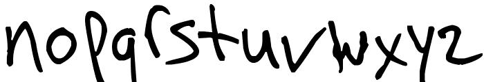 Arnot Hand Font LOWERCASE