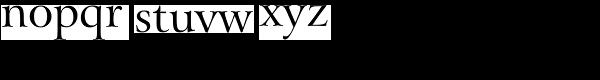 Arrus BT Roman Font LOWERCASE