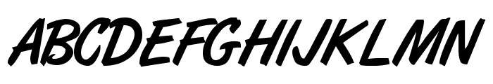 ArtBrush Medium Font UPPERCASE