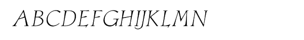 Astaire Italic Font UPPERCASE