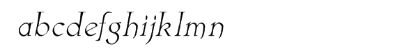 Astaire Italic Font LOWERCASE