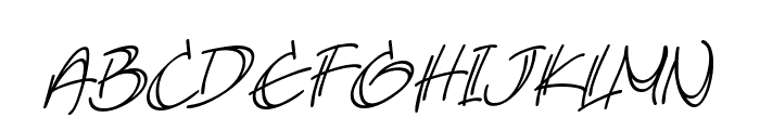 AtlandSketches BB Italic Font UPPERCASE