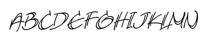 AtlandSketchesBB-Italic Font UPPERCASE