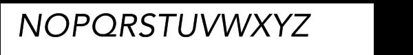 Avenir® Com 55 Oblique Font UPPERCASE